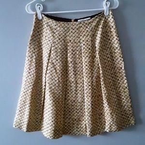 Banana Republic satin blend pleated skirt